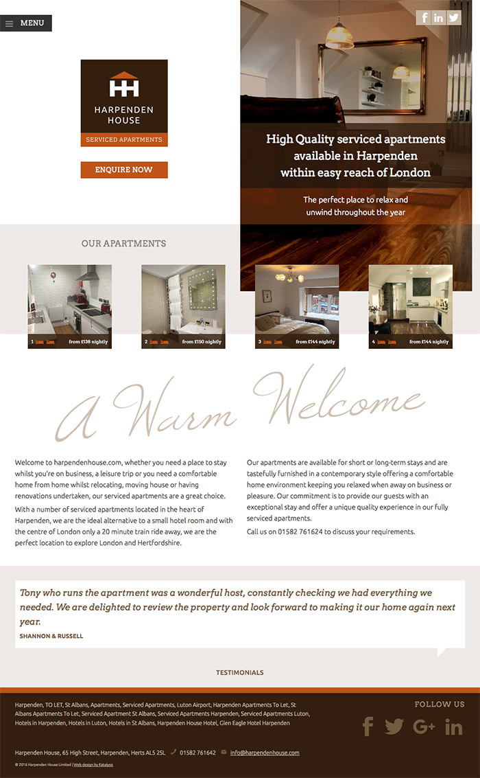 Harpenden House Home Page