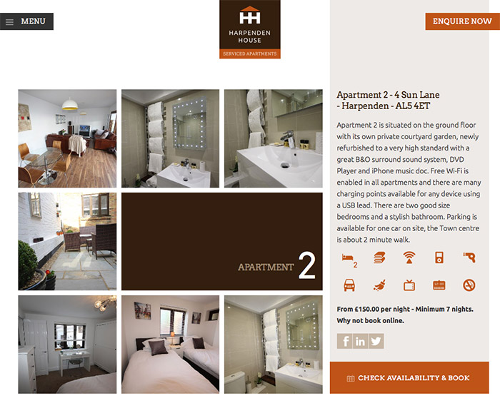 Harpenden House Apartment Page