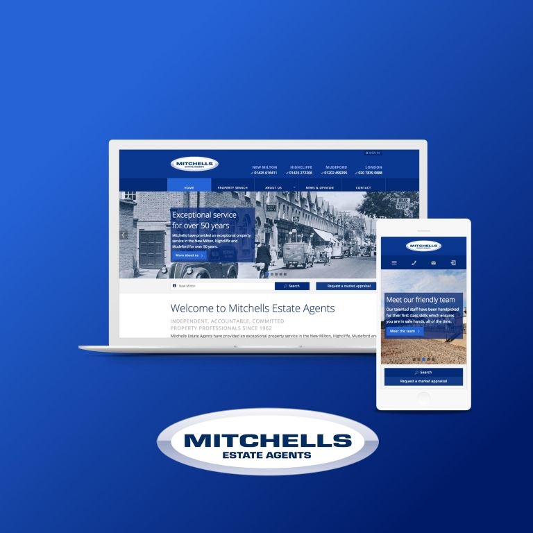 Mitchells concrete5 Estate Agency website