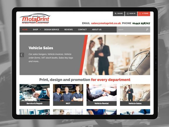 Motaprint accelerate sales with concrete5 eCommerce website